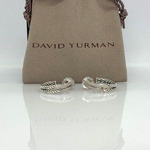 David Yurman Labyrinth Hoop Earrings w/Diamonds
